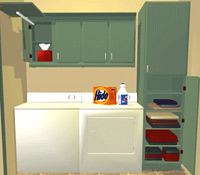 Closets, laundry rooms and utility rooms