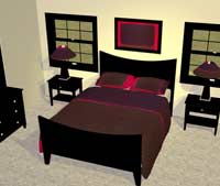 Designing your bedrooms has never been easier. Comforters, linens, sheets and pillows can be modified as needed. Do it all: Bedrooms, beds, master, kid, nurseries, cribs, bunkbeds, online design 3D interior bunk comforter blanket pillow night table chest armoir sleep quilt night light closet home.