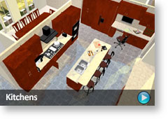 Kitchen Layouts. Interior Design. Realistic 3D Home Design